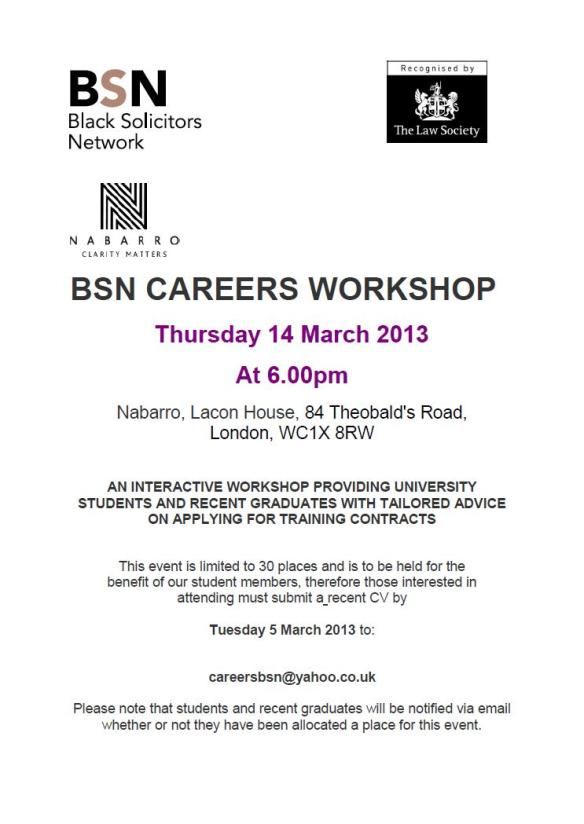 bsn workshop